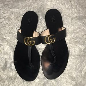 🔥100% Authentic Gucci marmont leather sandals🔥